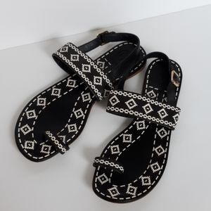Tory Burch Reena toe ring leather sandals size 10